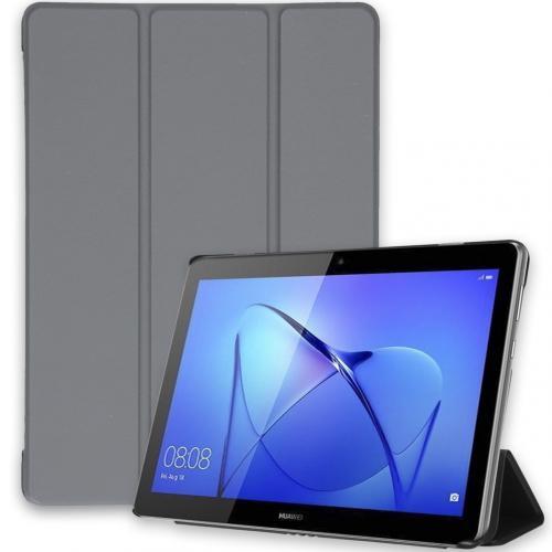 Trifold Bookcase voor de Huawei MediaPad T3 10 inch - Grijs