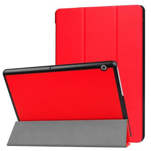 Trifold Bookcase voor de Huawei MediaPad T3 10 inch - Rood