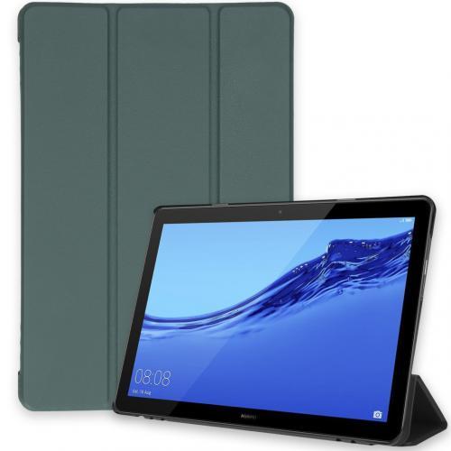 Trifold Bookcase voor de Huawei MediaPad T5 10.1 inch - Donkergroen