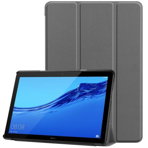Trifold Bookcase voor de Huawei MediaPad T5 10.1 inch - Grijs