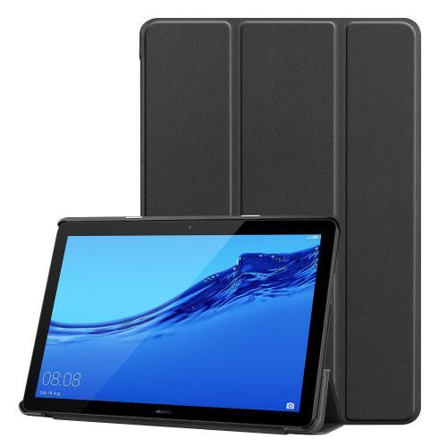Trifold Bookcase voor de Huawei MediaPad T5 10.1 inch - Zwart