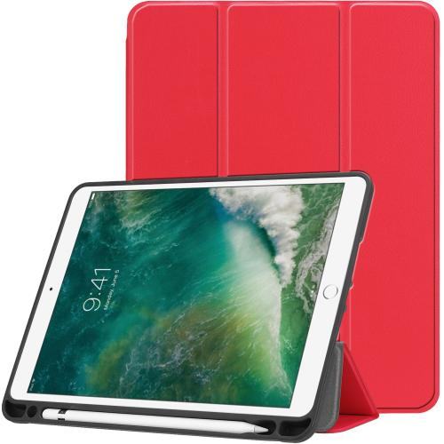 Trifold Bookcase voor de iPad (2018) / (2017) / Air 2 / Air - Rood
