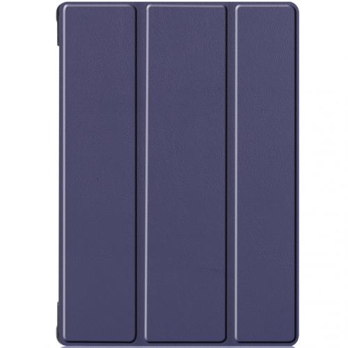 Trifold Bookcase voor de Lenovo Tab M10 - Donkerblauw