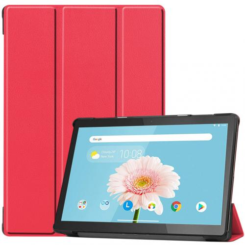 Trifold Bookcase voor de Lenovo Tab M10 - Rood