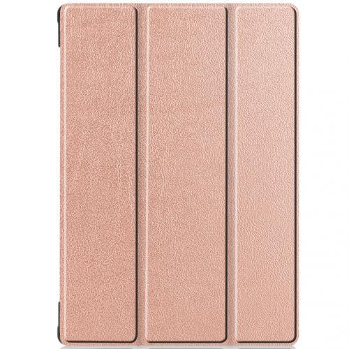 Trifold Bookcase voor de Lenovo Tab M10 - Rosé Goud