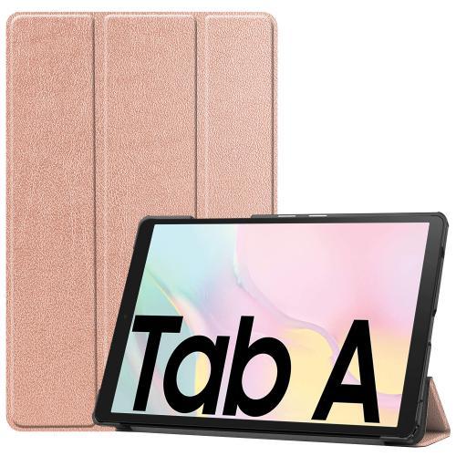Trifold Bookcase voor de Samsung Galaxy Tab A7 - Rosé Goud