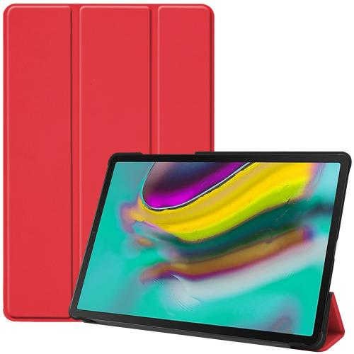 Trifold Bookcase voor de Samsung Galaxy Tab S5e - Rood
