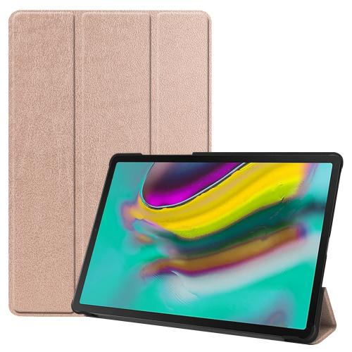 Trifold Bookcase voor de Samsung Galaxy Tab S5e - Rosé Goud