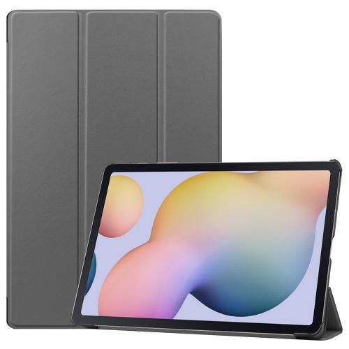 Trifold Bookcase voor de Samsung Galaxy Tab S7 Plus - Grijs