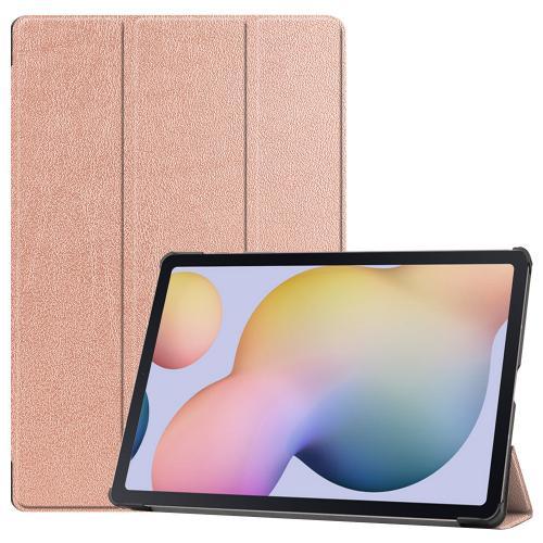 Trifold Bookcase voor de Samsung Galaxy Tab S7 Plus - Rosé Goud