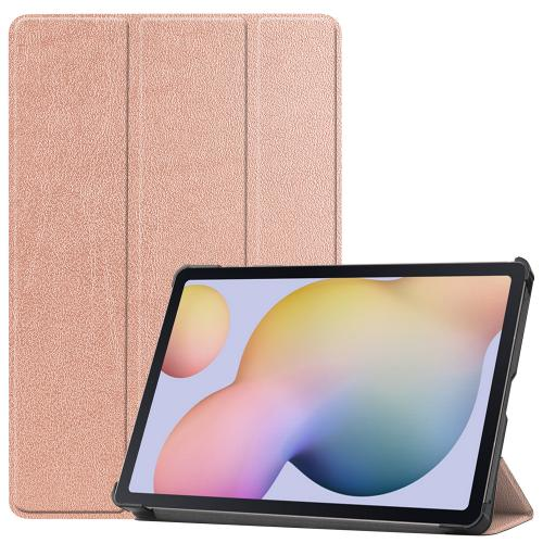 Trifold Bookcase voor de Samsung Galaxy Tab S7 - Rosé Goud