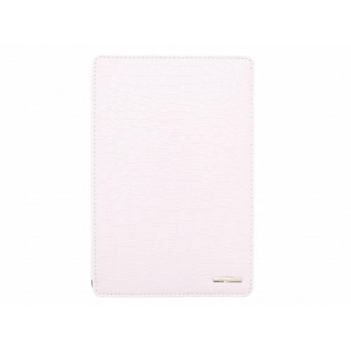 Wit glanzende tablethoes met krokodil design voor de iPad Mini / 2 / 3