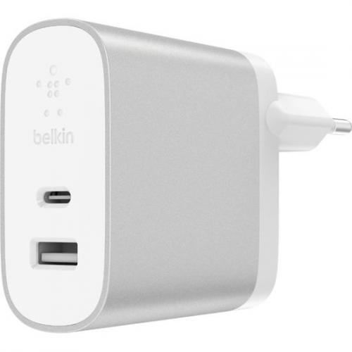 Zilveren BOOST↑ Charge™ USB-C + USB-A Home Charger