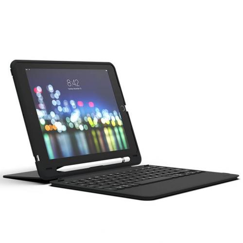Zwart Slim Keyboard Case voor de iPad (2018) / (2017) / Pro 9.7 / Air (2)