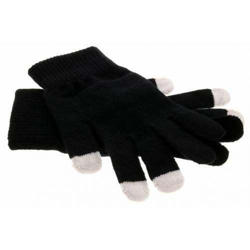 Zwarte effen touchscreen handschoenen
